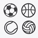 Ball icons set Royalty Free Stock Images