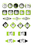 Ball icons Vector. Soccer ball icons vector illustration Royalty Free Stock Photography