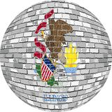 Ball with Illinois flag - Illustration Stock Photography