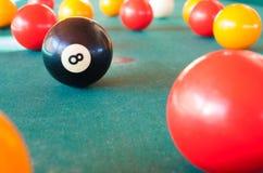 Ball 8 im Fokus Lizenzfreie Stockbilder