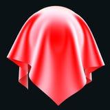 Ball im roten silk Stoff Lizenzfreies Stockbild