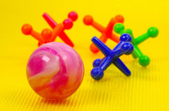 Ball and Jacks Royalty Free Stock Image