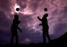 Ball jugglers Stock Photos
