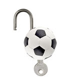 Ball with key Stock Photos