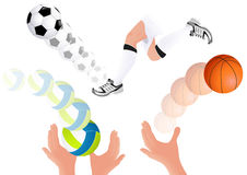 Ball kick Stock Photography