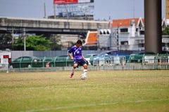 Ball kick from socker in thailand Royalty Free Stock Photo