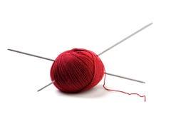 Ball of knitting Stock Photo
