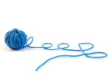 Ball of knitting yarn Stock Images