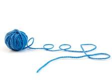 Ball of knitting yarn stock images