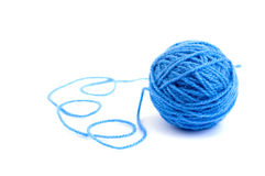 Ball of knitting yarn. On a white background Royalty Free Stock Image