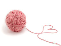 Ball of knitting yarn Stock Image