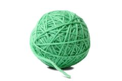 Ball on knitting yarn Stock Images