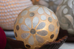 Ball lamp decorated with flower Royalty Free Stock Photo