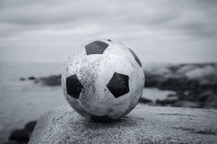 Ball in a landscape Royalty Free Stock Photography