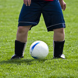 Ball Between Legs Royalty Free Stock Photography