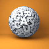 Ball from letters Royalty Free Stock Photography