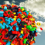 Ball of letters Stock Photography