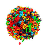 Ball of letters Stock Image