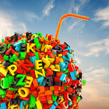 Ball of letters Royalty Free Stock Photo