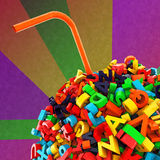 Ball of letters Royalty Free Stock Image