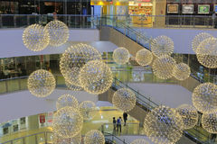 Ball lights of sm mall Royalty Free Stock Image