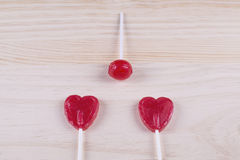 Ball lollipop with heart-shaped. stock image