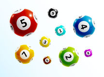 Ball lottery numbers 3d. Illustration of ball lottery numbers 3d eps 10 Royalty Free Stock Image