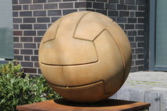 A ball. Made ​​of sandstone in Osnabrück Stock Photo