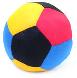 Ball made of colorful cloths Royalty Free Stock Images