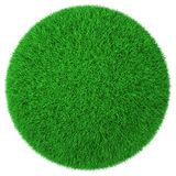 Ball made of green grass isolated Royalty Free Stock Image