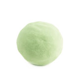 Ball made of kinetic sand isolated Royalty Free Stock Photography