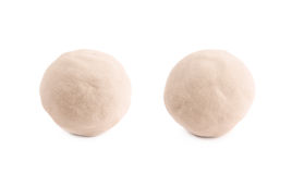 Ball made of kinetic sand isolated Royalty Free Stock Images
