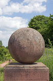 Ball made of stone Royalty Free Stock Photo