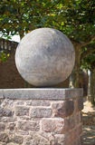 Ball made of stone Royalty Free Stock Photos
