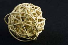 A ball made of a wicker. Abstract background Stock Photos