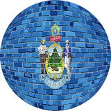 Ball with Maine flag - Illustration.  Stock Image