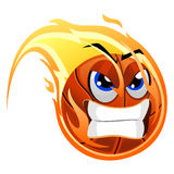 Ball Mascot on fire. Vector Illustration of Ball Mascot on fire Royalty Free Stock Photo