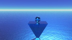 Ball meditation vector illustration