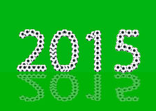 Ball 2015. The 2015  is ball message on black background and 2015 of shadow Royalty Free Stock Image