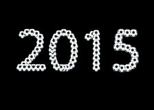 Ball 2015. The 2015  is ball message on black blackground Stock Image