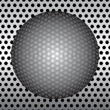 Ball on metal background Royalty Free Stock Photos