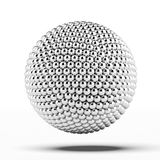 Ball of metal spheres. Isolated on a white background Stock Images
