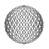 Ball from metalic mesh Royalty Free Stock Photo