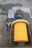 Ball Mill from Above Stock Image