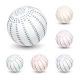 Ball mit abstrakter Verzierung Stockfoto