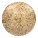 Ball mit dem Effekt von craquelure, der Effekt des gebrochenen surfac Lizenzfreies Stockfoto