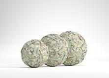 Ball mit drei Geldern Stockfoto