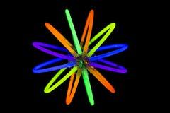 Ball mit Glühen haftet Leuchtstofflichter Stockbilder