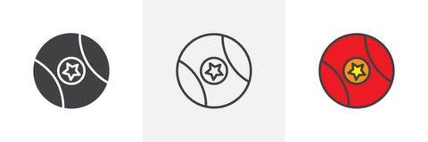 Ball mit verschiedenen Artikonen des Sternes Lizenzfreie Stockfotografie