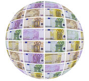 A ball of money. This image shows an area covered with banknotes Royalty Free Stock Photography